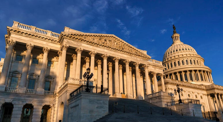 The House of Representatives side of the U.S. Capitol is seen on the morning of Election Day, Tuesday, Nov. 3, 2020, in Washington. (AP Photo/J. Scott Applewhite)
