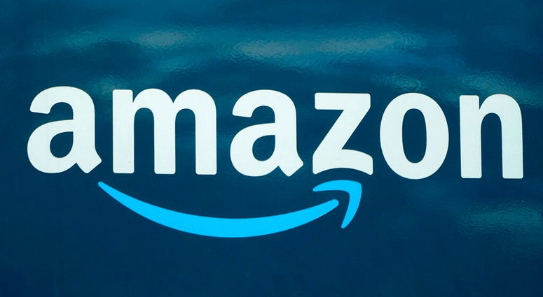 FILE - In this Oct. 1, 2020 file photo, an Amazon logo appears on an Amazon delivery van, in Boston. (AP Photo/Steven Senne, File)