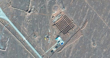This Dec. 11, 2020, satellite photo by Maxar Technologies shows construction at Iran's Fordo nuclear facility.