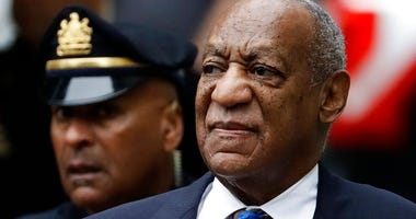 FILE - In this Sept. 24, 2018 file photo Bill Cosby arrives for his sentencing hearing at the Montgomery County Courthouse in Norristown, Pa. (AP Photo/Matt Slocum, File)