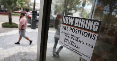 Now hiring sign coronavirus