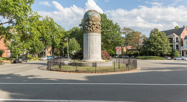 Matthew Fontaine Maury Monument on Monument Avenue in Richmond