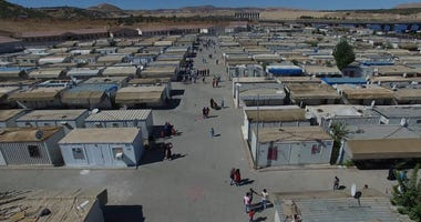Drone images from syrian refugee living in refugee camps in Gaziantep,Turkey