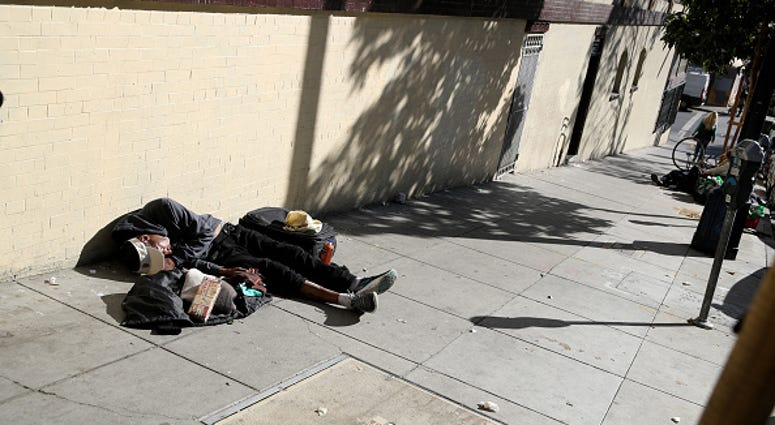 Homeless person San Francisco