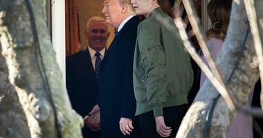 President Donald Trump and Barron Trump
