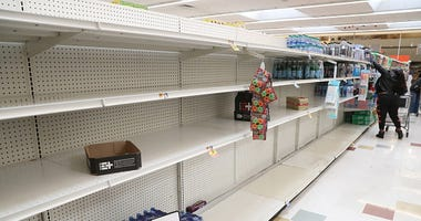 Coronavirus store shelves