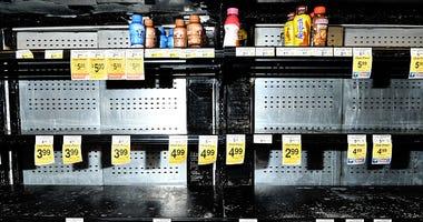 Empty store shelves coronavirus