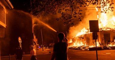Minneapolis fire George Floyd protest