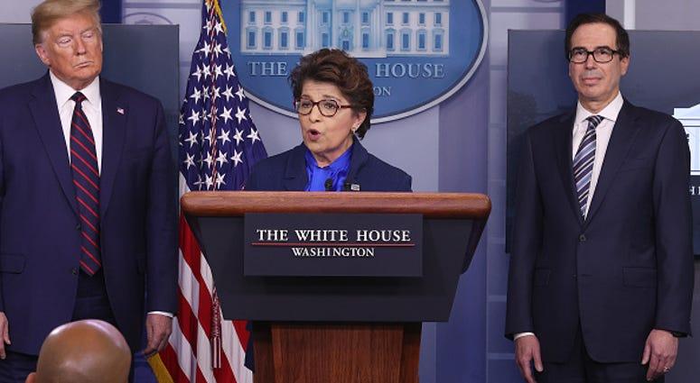 Jovita Carranza, Steve Mnuchin, Donald Trump