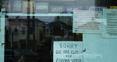 Coronavirus closed sign