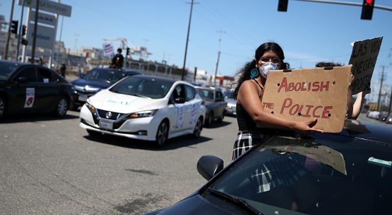 Abolish the police sign Oakland