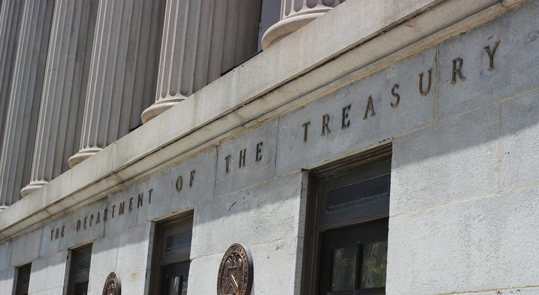 United States department of the treasury building in Washington D.C.