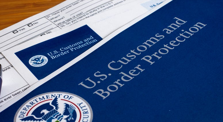 US Customs and Border Protection form to fill out