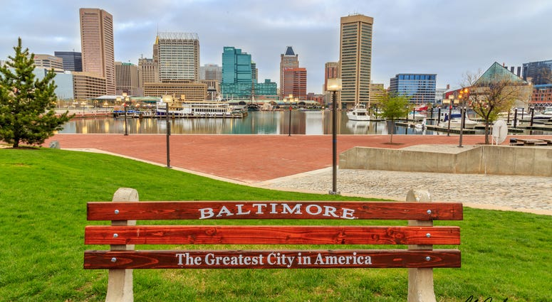 This is an early morning shot of Baltimore's Inner harbor