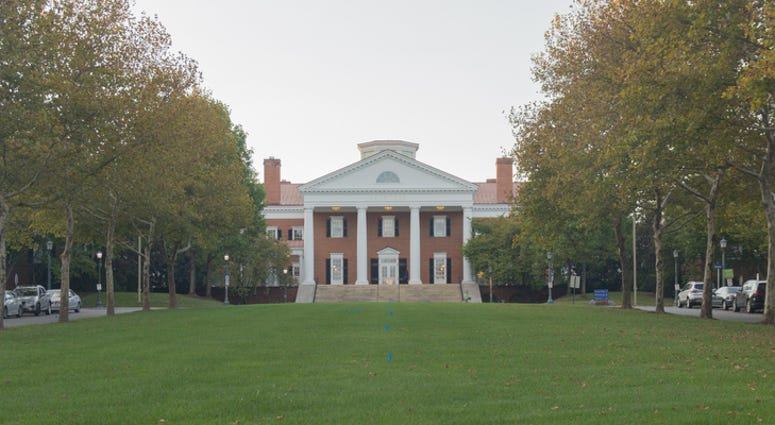 This photo was taken at the campus of Darden School of Business at the University of Virginia. Located in Charlottesville, Virginia, the UVa is found and designed by Thomas Jefferson.