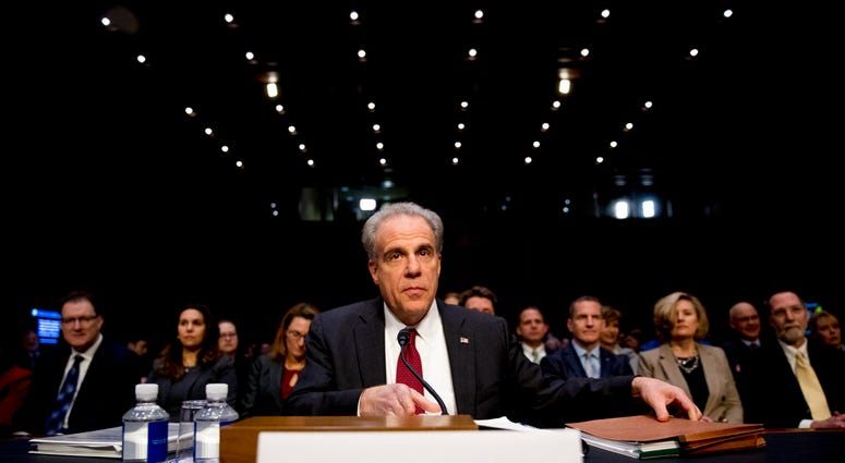 Department of Justice Inspector General Michael Horowitz arrives for a Senate Judiciary Committee hearing on the IG's report on alleged abuses of the Foreign Intelligence Surveillance Act, Dec. 11, 2019, on Capitol Hill.(AP Photo/Andrew Harnik)