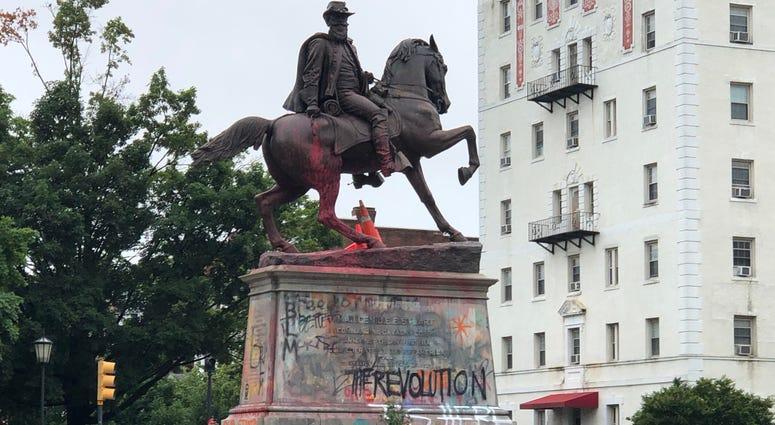 Confederate statue in Richmond Virginia