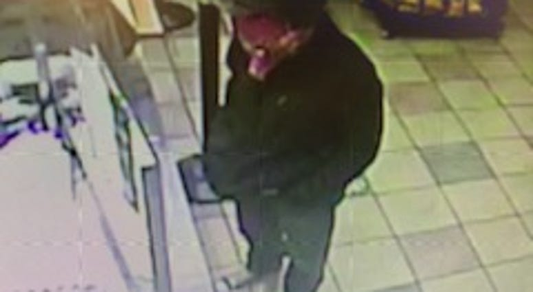 Chesterfield Police searching for a guy who robbed the Subway at 9130 Jeff Davis Highway Tuesday night. (Photo credit: Chesterfield Police)