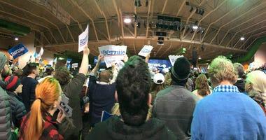 Crowd attends Bernie Sanders rally at Arthur Ashe Center on February 27, 2020. (Matt Demlein, WRVA)