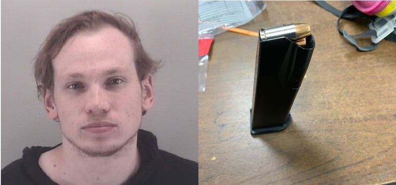 Police recovered gun and loaded clip from Benjamin Madlinger's car