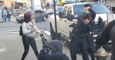 NYC cop sucker punched