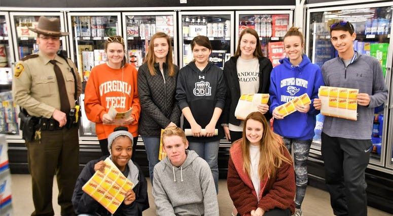 Project Sticker Shock is a youth-led movement to combat underage drinking (Photo Credit: Hanover Sheriff's Office)