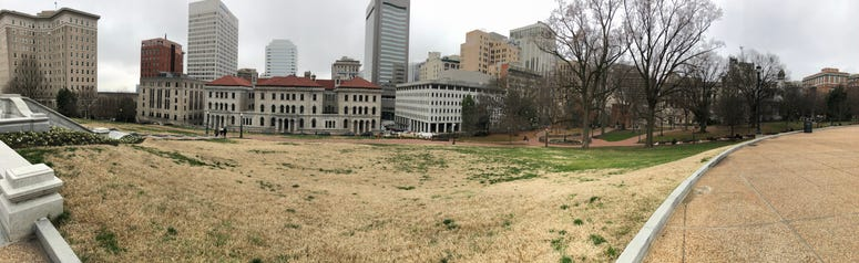 A panoramic view of the southern part of Capitol Square.  (Matt Demlein, WRVA)