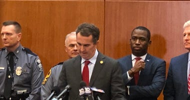 Governor Ralph Northam declares a temporary State of Emergency on January 15, 2020. (Matt Demlein, WRVA)
