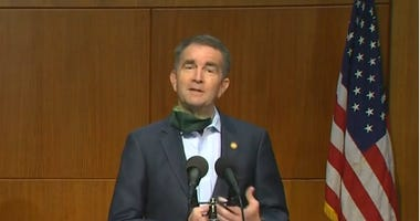 Virginia Governor Ralph Northam during covid-19 briefing