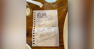 Black women leave note for officer