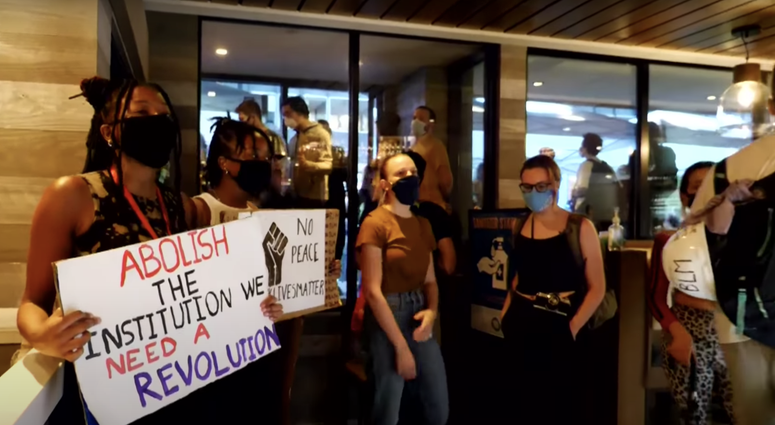 D.C. Protesters Invade Restaurant