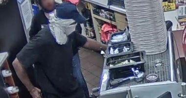 Chesterfield Police looking for a suspect who robbed the Sheetz on Providence Road early Thursday morning. (Photo Credit: Chesterfield Police)