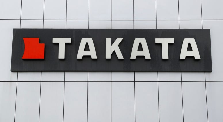 FILE - This June 25, 2017 file photo shows TK Holdings Inc. headquarters in Michigan. Bankrupt air bag maker Takata is recalling 1.4 million driver's side inflators in the U.S. because they could explode and hurl shrapnel.  (AP Photo/Paul Sancya, File)