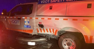 State trooper and VDOT employee escape injury