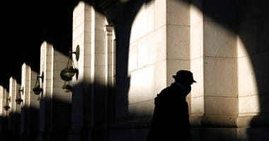 FILE - In this April 15, 2020, file photo a man wears a face mask to protect against the spread of the new coronavirus at Union Station in Washington. (AP Photo/Patrick Semansky, File)