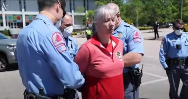 Woman arrested during NC rally