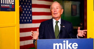 FILE - In this Nov. 26, 2019, file photo, Democratic presidential candidate Michael Bloomberg speaks to the media in Phoenix. (AP Photo/Rick Scuteri, File)
