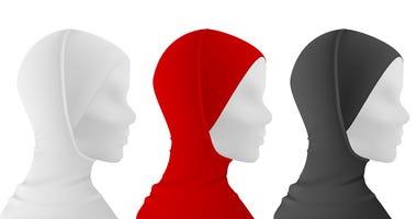 Muslim female hijab on mannequin (dreamstime)