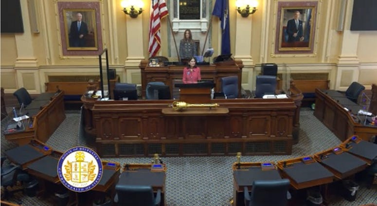 House Speaker Eileen Filler-Corn (D-Fairfax) presides over an Empty House of Delagates (House Feed)