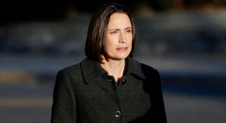Former White House national security aide Fiona Hill arrives to testify before the House Intelligence Committee on Capitol Hill in Washington, Thursday, Nov. 21, 2019. (AP Photo/Julio Cortez)