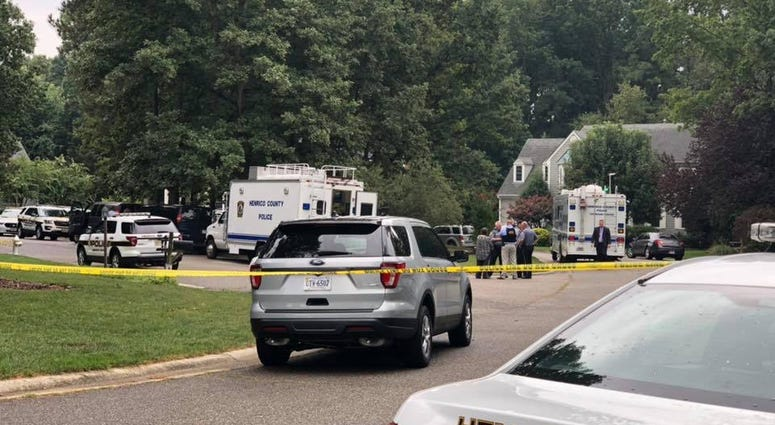 Picture of Henrico County Police on scene during a separate incident (Photo Credit: WRVA News)