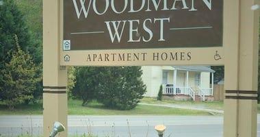 Woodman West Apartment Complex, site of Virginia's first walkup coronavirus tests.  (Matt Demlein, WRVA)