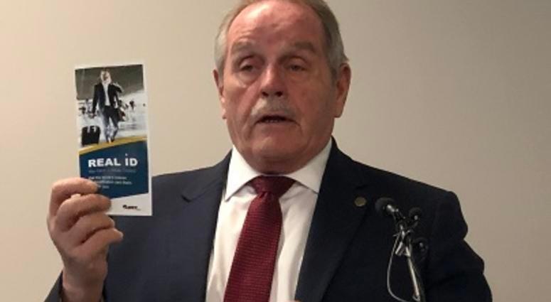 TSA Federal Security Director Chuck Burke discusses REAL ID at Richmond International Airport. (Matt Demlein, WRVA)