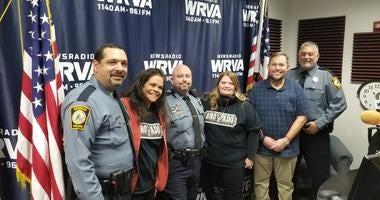 Officers get shaved