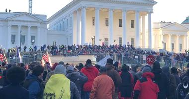 Crowd at State Capital for Gun Rights Rally on January 20, 2020. (Matt Demlein, WRVA)