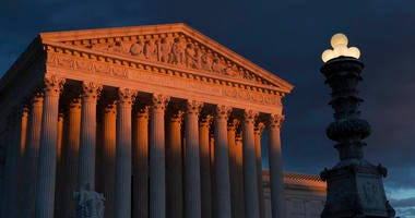 FILE - In this Jan. 24, 2019, file photo, the Supreme Court is seen at sunset in Washington. Vast changes in America and technology have dramatically altered how the census is conducted. (AP Photo/J. Scott Applewhite, File)