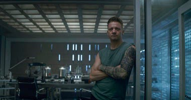 Hawkeye/Clint Barton (Jeremy Renner) in a scene from Marvel Studios' Avengers: Endgame.  (Film Frame/Marvel Studios 2019 via AP)