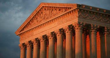 FILE - This Oct. 4, 2018, file photo shows the U.S. Supreme Court at sunset in Washington. (AP Photo/Manuel Balce Ceneta, File)