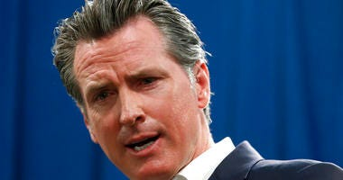 FILE - In this Sept. 16, 2019, file photo, Gov. Gavin Newsom answers a question during a news conference in Sacramento, Calif. (AP Photo/Rich Pedroncelli, File)