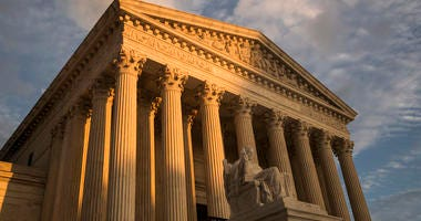 FILE - In this Oct. 10, 2017, file photo, the Supreme Court in Washington, at sunset. The Supreme Court is turning to gun rights for the first time in nearly a decade, even though New York City gun owners already have won changes to a regulation they chal